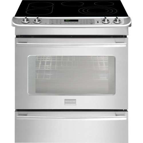 Frigidaire FPES3085PF Professional 30' Stainless Steel Electric Slide-In Smoothtop Range -...