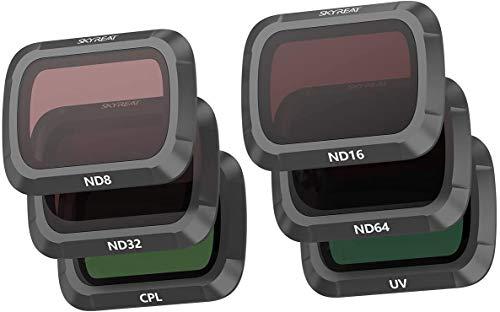 SKYREAT Mavic Air 2 Kamera Objektiv ND Filter Set 6er Pack- (UV/CPL / ND8 / ND16 / ND32 / ND64) Kompatibel mit DJI Drone