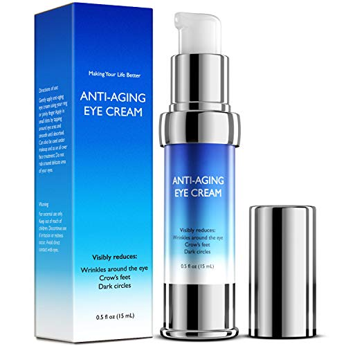 Eye Cream Retinol Anti-Aging, Visibly Reduces Wrinkles, Crow's feet, Puffiness, Under & Around Eye and Dark Circles - 15mL