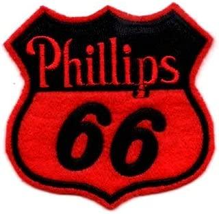 アメリカン アイロン ワッペン Phillips66 フィリップス66 アメリカン雑貨 アメリカ 雑貨 カスタム グッズ