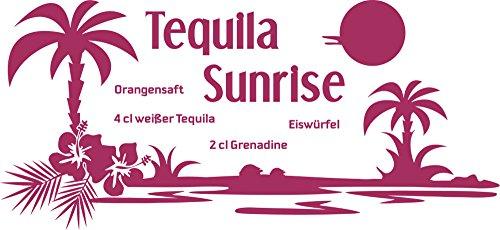 GRAZDesign Küchentattoo Bar - Wandtattoo Sprüche Küche Tequila Sunrise - Wandtattoo Küche Rezept / 124x57cm / 821 Magnolia