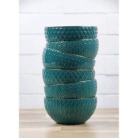 Member's Mark Texture Bowls, Set of 6 (Teal)