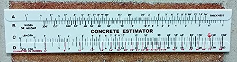 Concrete Slide Ruler Volume Calculator 300 yard Lot of 3 pieces USA Made.