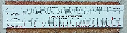 Concrete Estimator Slide Ruler 200 Yard Volume Calculator