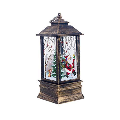 Amosfun Weihnachten Laterne LED Beleuchtung 3D Effekt Tischleuchte hängende Weihnachtslaterne Tischlaterne Weihnachtsdeko - ohne Batterie