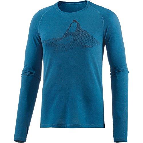 Odlo Chemise à Manches Longues Encolure Ras du Cou Livigno Revolution T-Shirt S Seaport/Blue Jewel Melange