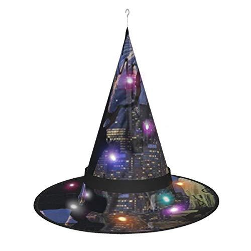 Hangdachang New York Liberty Statue Halloween Kostüm Hexe Hüte Zubehör für Partydekoration