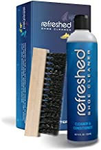 Refreshed Shoe Cleaner & Conditioner | 1x Cleaning Solution, 1x Brush - Easily Clean Suede, Leather, Nubuck, Canvas and Mesh Shoes - White Sneakers | Shoe Cleaning Kit