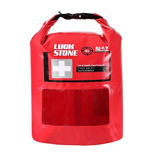 Praktische Erste Hilfe Kit Wasserdicht Tasche leer mit Sichtbarem Fenster im Freien Notfalltasche Dry Bag für Outdoor Camping Wandern Reisen Motorradtouren Radsport Angeln Kajak 5L/8L (8L)