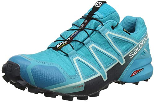 Salomon Speedcross 4 GTX W, Zapatillas de Trail Running para Mujer, Azul (Bluebird/Icy Morn/Ebony), 38 2/3 EU