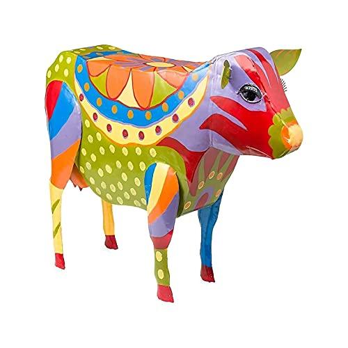 Mesa de Picnic de Animales | Arte Popular Muebles de Patio de Resina Pintadas Mesa Auxiliar | Mesa de Refrigerios de Playa | Esculturas Mesa de Vino para Jardín Decoración del Paisaje(Color:4,Size:A