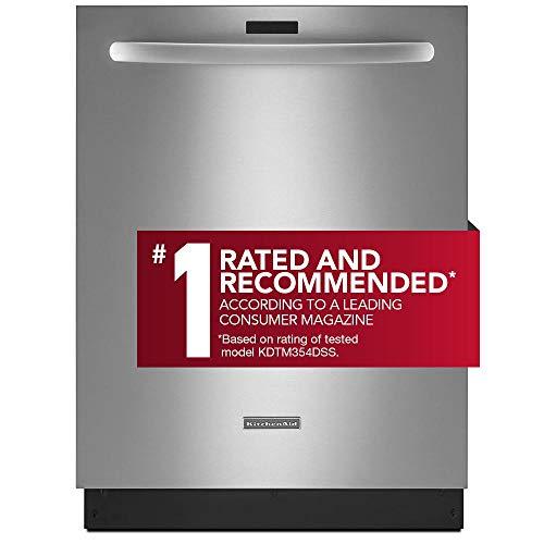 KitchenAid KDTM354DSS Architect Series II 43dB Stainless Dishwasher