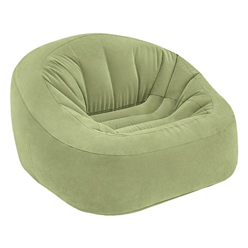 Intex 68576NP - Sillón hinchable Beanless Bag Club en color verde 124 x 119 x...
