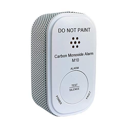Nemaxx M10 Mini CO-melder met 10-jarige batterij, koolmonoxide gasmelder, alarm 85 dB-gasalarm met de nieuwste technologie 75 mm, rookmelder conform DIN EN50291, wit