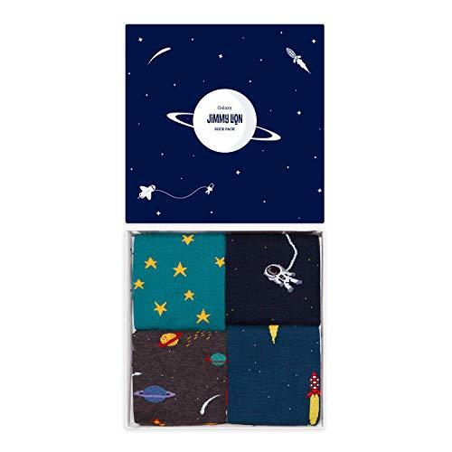 Jimmy Lion Packs de Calcetines Galaxy Pack para Hombre y Mujer Talla 36-40. Calcetines fabricados en Europa con materiales de primera calidad.