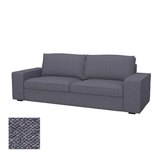 Soferia - IKEA KIVIK Funda para sofá de 3 plazas, Nordic Anthracite