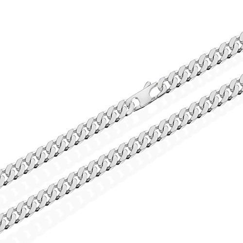 NKlaus 925 Sterling Silber Kette PANZERKETTE 55cm Königskette 6,00mm Breit 43,15gr 5213