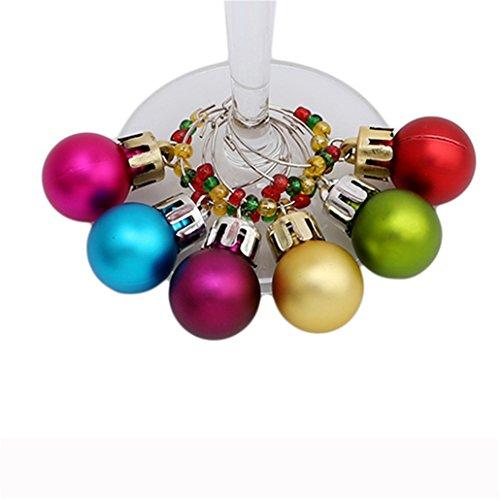 Chinget Weihnachten Thema Weinglasmarkierer Glasmarker Ring Charm Anhänger Weihnachtendekoration (Stil 4)