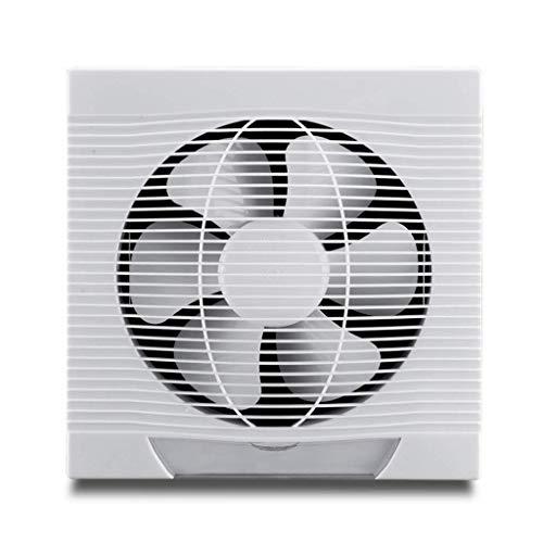 ZYING Extintor de Pared, de plástico Blanco del Cuadrado del Extintor Humos Inicio Baño Strong Pared Ventilador de ventilación