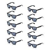 ONNEA 10 Paare Party Favors Sonnenbrille Set Sommer Kinder Damen (Schwarz 10-Pack)