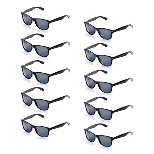 ONNEA 10 Paare Party Favors Sonnenbrille Set Sommer Kinder Damen (Schwarz 10-Pack)