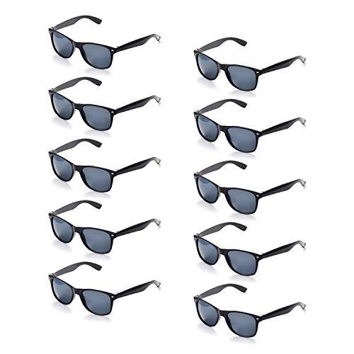 ONNEA 10 Paar Party-Sonnenbrillen, 80er-Jahre-Design, für Kinder & Erwachsene UV400-Schutz