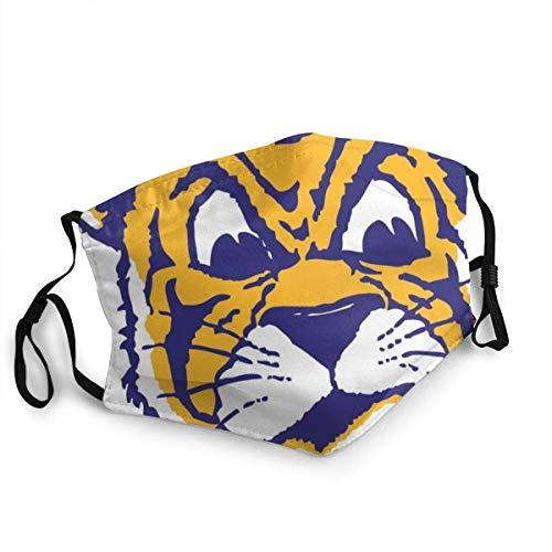 Impresión Bufanda Facial Moda Algodón Adulto LSU Tigres (11) Bufanda