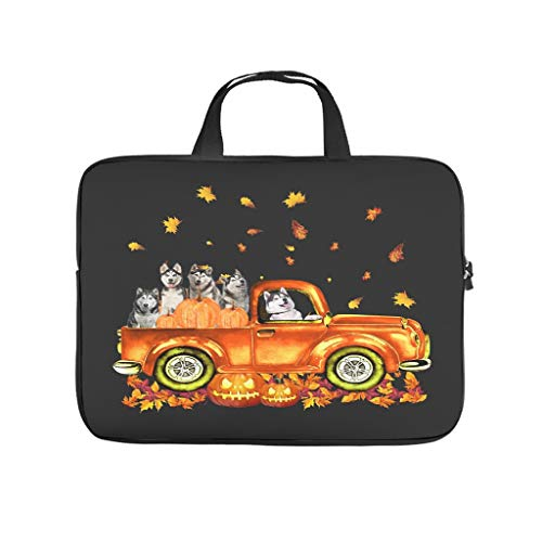 Laptop Sleeve Husky Pumkin Car Autumne Halloween Anti-scratch Lightweight -HalloweenLaptop Sleeve Case Compatible with 13-15.6 inch MacBook Pro white 10 zoll