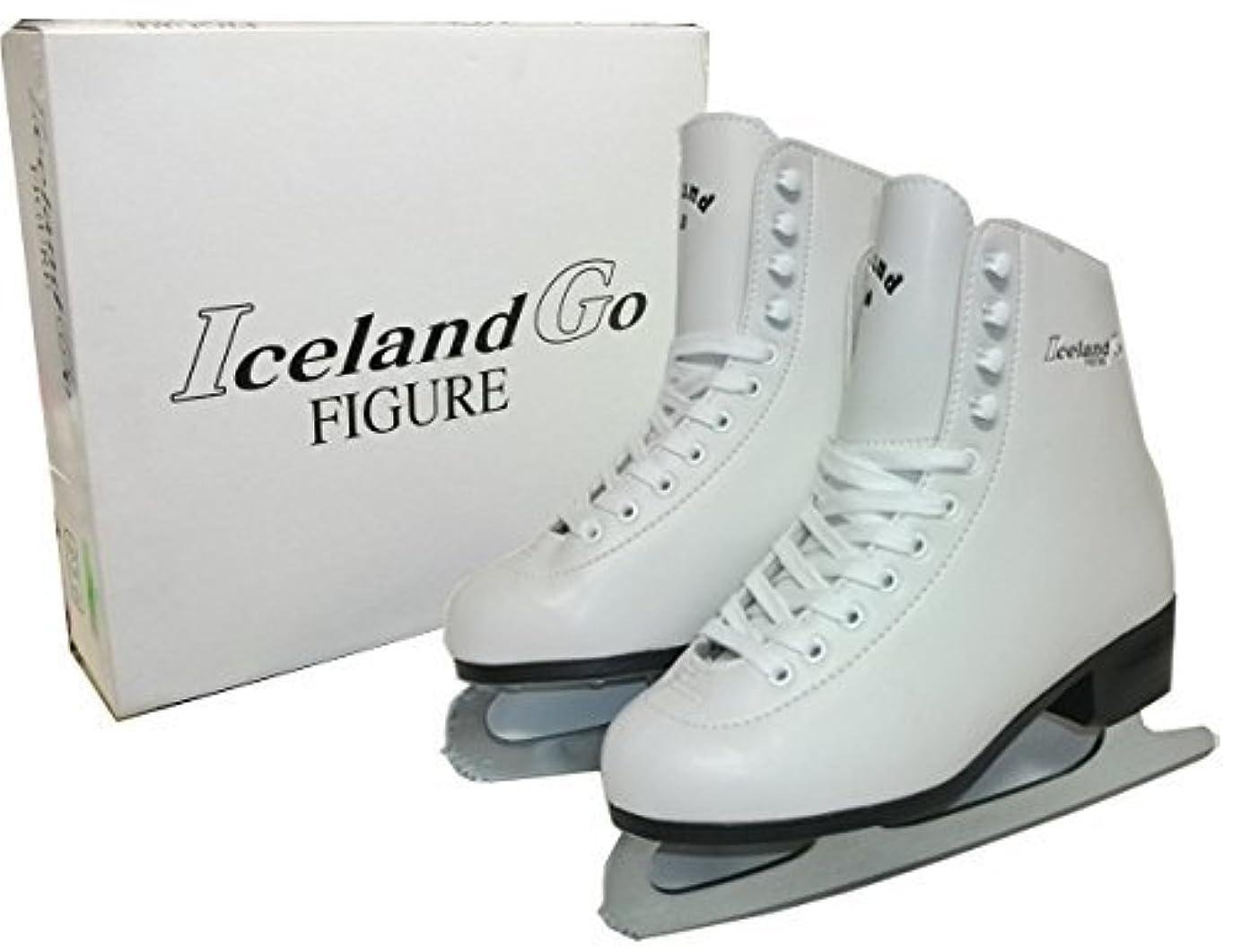 何よりも食物バージンIceland Go フィギア スケート サンエス GF-700 フィギュア 靴付 研ぎ済み フィギュアスケート