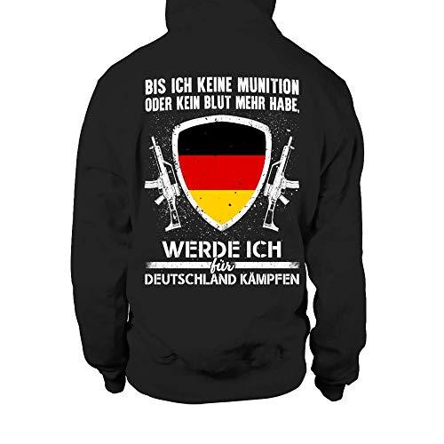 TEEZILY Soldat ich werde für Deutschland kämpfen Kapuzenpullover