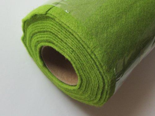 Hettich Bastelfilz grün, 45 x 200 mm auf Rolle, Nicht selbstklebend, 1 Stück, 89893