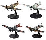 OPO 10 - Lote de 4 Aviones de Combate 1/72 Zero Nakajima Mitsubishi Hawker (G11 + G22 + G24 + G17)