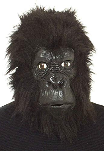 narrenkiste O40331.00 schwarz AFFE Affen Gorilla Uberziehmaske Maske Einheitsgröße