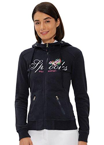 SPOOKS Damen Sweatjacke, Kapuzen-Jacke Mädchen Kinder Frauen, Zipper Hoodie - Sommerjacke bequem & anschmiegsam - Caro Jacket Navy S