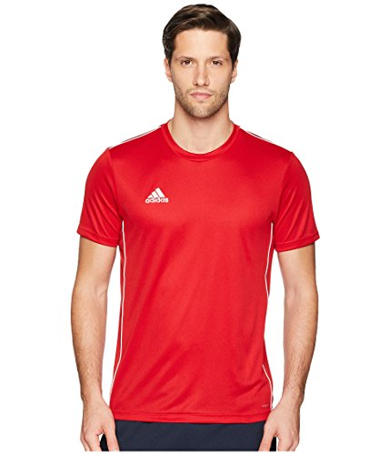 adidas Men's Core 18 Training Jersey, Power Red/White, Large