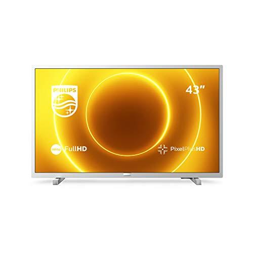Philips 43PFS5525/12 43-Zoll-LED-Fernseher (Full HD, Pixel Plus HD, Full-Range-Lautsprecher, 2 x HDMI, USB) Mittelsilber [Modelljahr 2020]