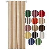 JEMIDI Cortina decorativa con aspecto de lino con cinta fruncida, 140 cm x 245...