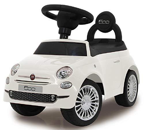 MINICARS Porteur Fiat 500 Blanc 60 cm, Trotteur pour Enfant