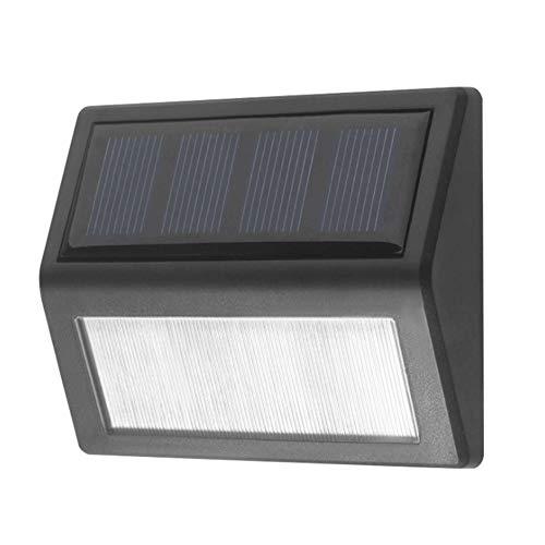 Luces de la pared de la escalera solar al aire libre con la capacidad de la batería más grande Lámpara de cubierta eléctrica LED de la lámpara a prueba de intemperie para las escaleras de las escalera