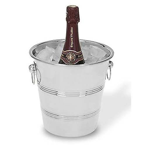 Stainless Steel Silver Champagne Wine Bucket Punch Drink Ice Cooler Party French Style