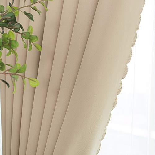 WBXZAL-Rideaux Tous Les Tissus Finis Modernes Rideau Minimaliste, Parasol, Salon Chambre des Fenêtres, Portes - Fenêtres150 x 270 CM (W x H) x 2,D