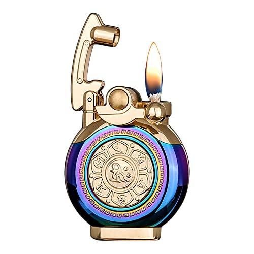 GvvcH Encendedor Vintage Encendedor de Cigarros de Queroseno Reutilizable Mini Encendedor de Trinchera Portátil Encendedor de Cigarrillos Antiguo/Clásico con Elegante Caja (Sin Gas),Multicoloured
