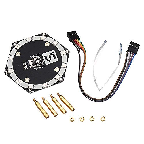 ZJN-JN Arduino Compatible, Sipeed R6+1 MEMS Microphone Array Module 7 Silicon Microphone Board For Sipeed Maix-GO/Maix-Bit Raspberry Pi&Orange Pi printer accessories PC Accessories