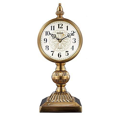 Reloj De Mesa Retro Europeo, Reloj De Recepción, Relojes De Escritorio del Reloj De La Vendimia, con Balanceo para Oficina, Decoración del Hogar, Regalo, Operado por Baterías,5