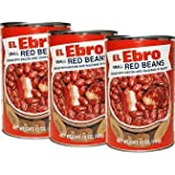 El Ebro Small Red Beans with Bacon & Sausage 15oz Can ( Pack of 3 )