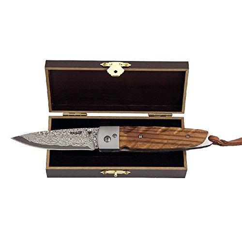 Haller 83103 Damast-Taschenmesser Zebraholz 39 Lagen rfs. Messer, Grau