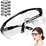 [Fulfillment By Amazon]Adjustable Anti-fog Safety GogglesProtective Glasses for Construction Laboratory Chemistry Personal or Professional Use5PCS