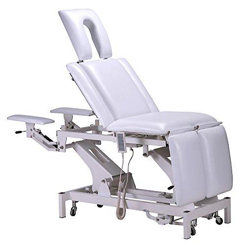 Elektrische/Hydraulische Behandlungsliege Therapieliege Massageliege Weiß 002330