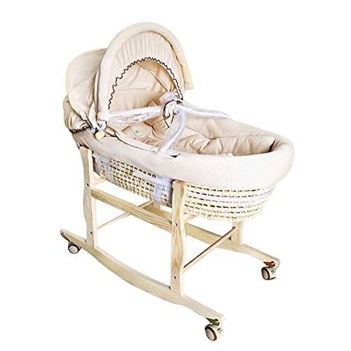 Flash- 0-1 Jahre alt Moses Korb Baby Babybett/Schlafkorb Newborn Baby Bett/Portable Cradle Bett, Lager 20kg, mit Halterung (größe : Ordinary Section-A)