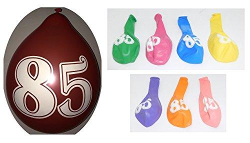 Lot 20 Ballons 85 ans Multicolore 31cm Decoration Anniversaire